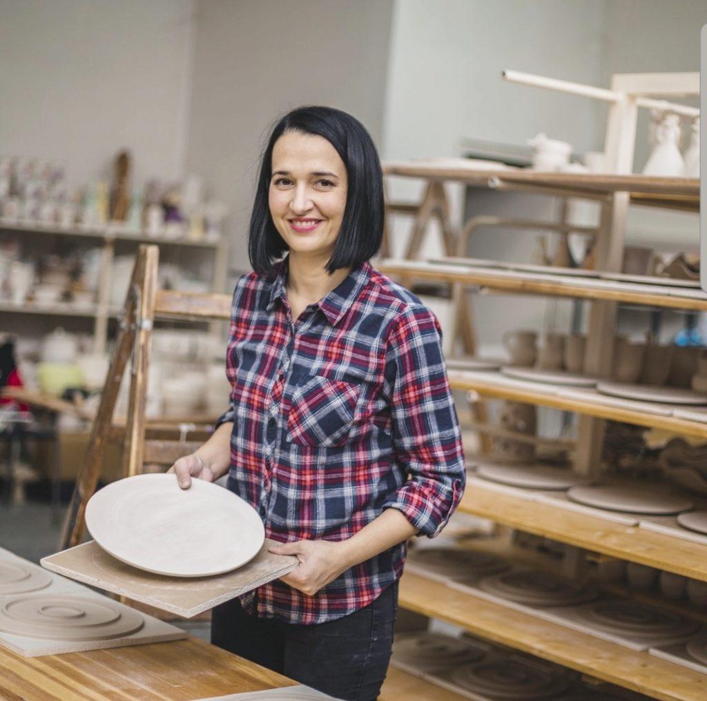 Hrvatska poduzetnica Valentina u svojoj radionici